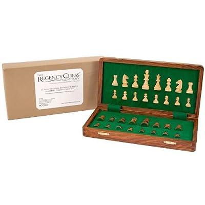 12 Inch Sheesham, Boxwood And Maple Magnetic Folding Chess Set