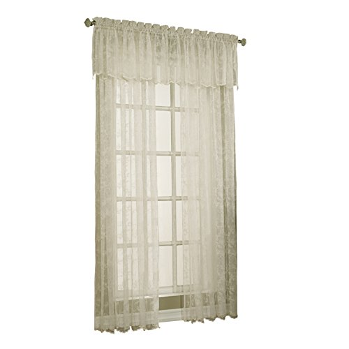 (Style Selections Cecelia 17-in Ivory Polyester Rod Pocket Sheer)