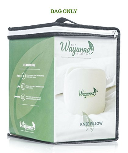 The Wayanna Collection Maternity Knee Pillow Storage Bag with Carrying Handle for Travel Convenience | Large Size Can Store Baby Bids & Towels, Diapers, Teethers, Clothing | BAG ONLY from by The Wayanna Collection