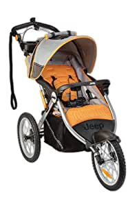 Jeep Overland Limited Jogging Stroller with Front Fixed Wheel, Fierce (Discontinued by Manufacturer)