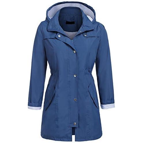 Nice Elover Womens Lightweight Hooded Waterproof Active Outdoor Rain Jacket S-XXL free shipping