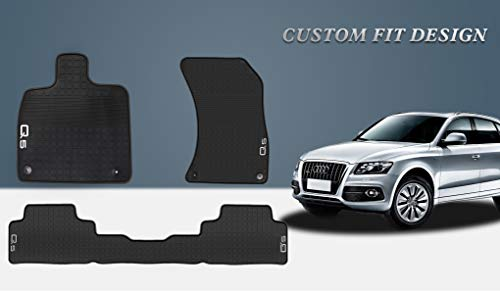 (HD-Mart Car Floor Mat Rubber for Audi Q5 2017-2018-2019 Custom Fit Black Auto Floor Mats All Weather Heavy Duty & Odorless)