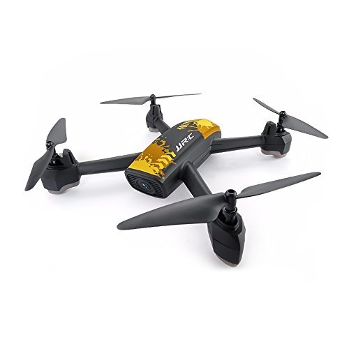 Hobbyfly JJRC H55 TRACKER GPS FPV RC Drone with Camera Live Video and GPS Waypoint Return to Home Positioning Quadcopter with 720P HD WIFI Camera Altitude Hold Headless Mode One Key Start, Yellow
