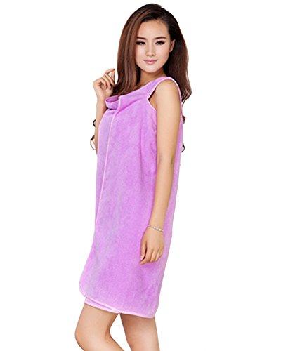 ZiXing Sauna Kilt for Women Kuschelweicher Sarong Kilt mit Klett und Spa Hair Handtuch Wrap