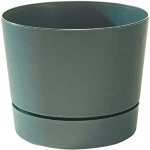 Novelty 20041 Low Profile Round Cylinder Pot, Green, 4.5-Inch