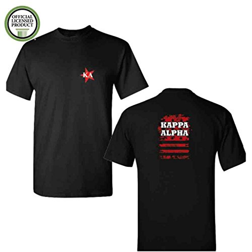 (Kappa Alpha Order Short Sleeve Tshirt- Stars Design #2 - KA Black Shirt- Great Shirts For Kappa Alpha Order Rush (Large))