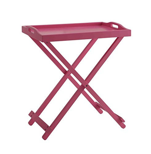 Free Convenience Concepts Designs2Go Folding Tray Table, Pink