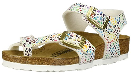 Birkenstock Girls Taormina Sandal, Mosaic White Birko-Flor, Size 34 N EU (3-3.5 N US Little Kid)]()
