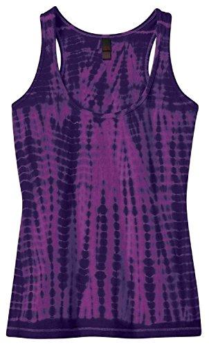 [4 PACK Ladies Tie Dye Yoga Racerback Style Cotton Tank Top] (Arab Money Costume)