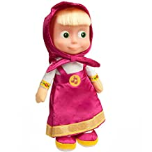 29 Cm Russian Language Talking and Singing Toy Pink Dress Doll Masha and the Bear, the Famous Cartoon, Musical Toy, a Soft Gift, Girl, Birthday 11,4 inch