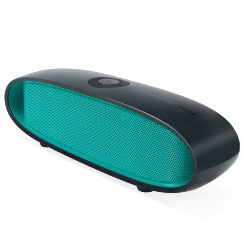 GOgroove Portable Stereo Bluetooth Speaker BlueSYNC DRM with 10-Hour Rechargeable Battery and Integrated Microphone (Green) - Works with Samsung , Apple , HTC , LG , Motorola & More Phones and Tablets