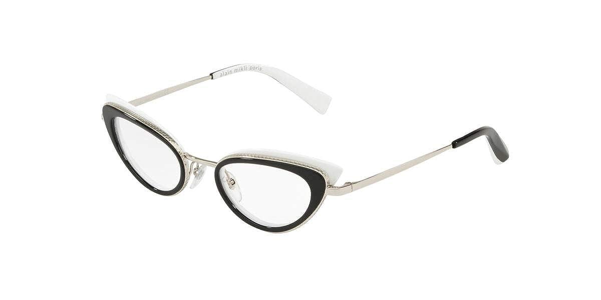 Eyeglasses Alain Mikli A 2029 002 BLACK WHITE WITH SILVER