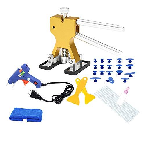 Toogoo 32 pcs DIY PDR Tools t Paintless Dent Repair Puller Bridge Hail Removal Kits (US Plug)