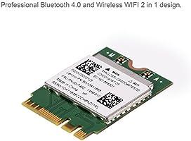 Richer-R 2 en 1 Adaptador Tarjeta de Red Bluetooth 4.0/WiFi,Dual ...