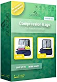 New Acrodo Space Saver Compression Bags 3-pack for Packing and Storage - No Vacuum Rolling Ziplock for Clothing & Travel