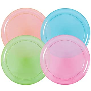 Hard Plastic Plates, 9-Inch Round, Party/Luncheon Plates, Assorted Neon, 20-Count (B00J4JWYWU) | Amazon price tracker / tracking, Amazon price history charts, Amazon price watches, Amazon price drop alerts