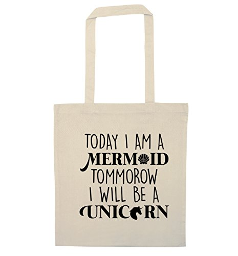 will tommorow Today I bag mermaid a tote unicorn Natural I am be a YOUnHgfwq
