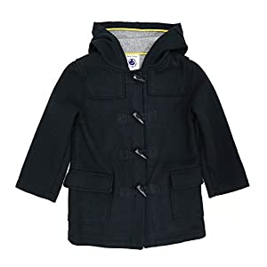 6 Petit Bateau Boy & Girls Black Wool Hooded Toggle Coat