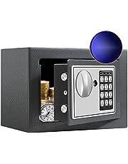 SamYerSafe Safe Box with Sensor Light,Fire Proof Security Safe with Digital Keypad Money Safe Steel Construction Hidden