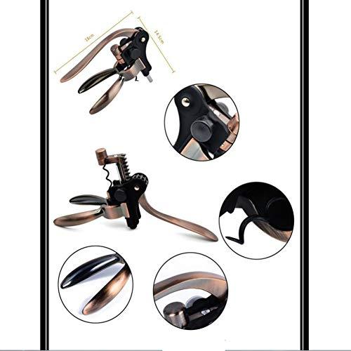 GYFHMY Zinc Alloy Rabbit Wine Bottle Opener Retro Corkscrew Kit Best Accessories All in One Manual Cork Screw Key Set Aerator Bar Waiter by GYFHMY (Image #2)