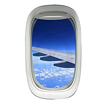 Amazoncom Airplane Window Decal Wing Sky Clouds Mural Peel And - Window decals amazon