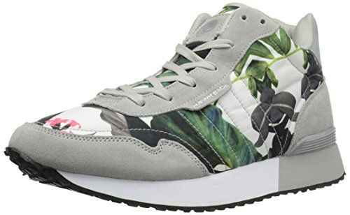 amp; Warren Hawke Mid Fashion Men's Co Sneaker Floral Grey 1an4nWH