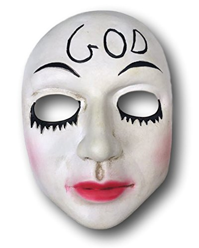 Rubber Johnnies GOD Mask, Anarchy, Election, Halloween White