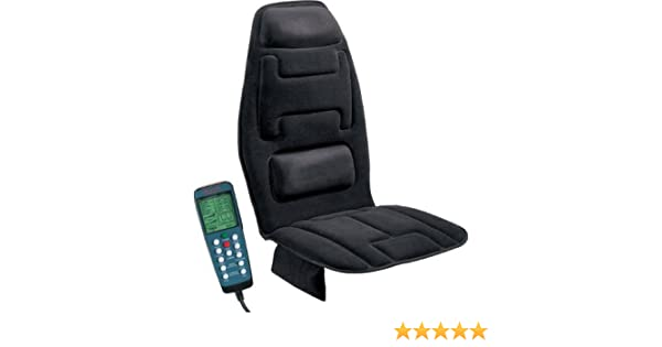 Amazon.com: Masajeador De Espalda Y Cuello En Silla Para Auto - Con Calor Adaptable - Masajeador Automatico De Espalda Electrico Para Silla - Uso Casero Y ...