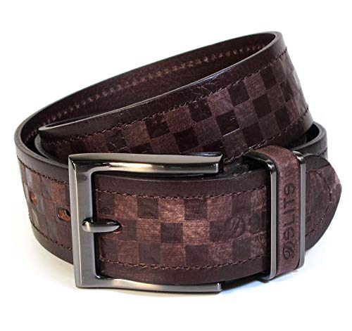 (CU9-141) Mens Belt 100% Real Leather Black, Brown, White Size 28~42