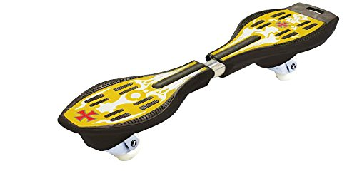 Acceleration Platform (Ripstik Caster Board - Radically Intense Acceleration Waveboard with 360 Degree Caster Trucks and Anti Slip Concaved Platform for Kids Ages 8 and Up   Portable Lightweight Skateboard - Yellow)