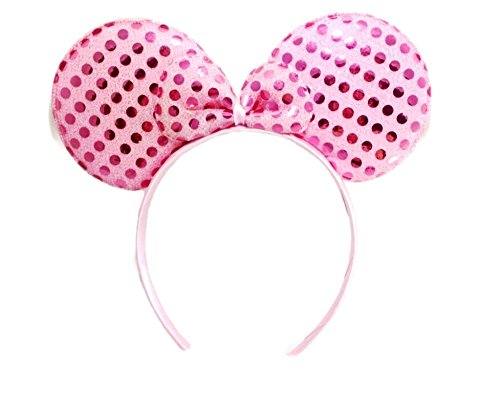 MeeTHan Mickey Mouse Minnie Mouse Ears Headband Sequin : M1 (Sequin Pink1) (Narutos Dad)