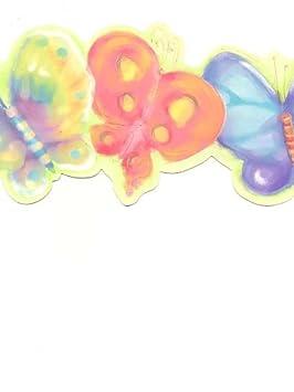 York Bordure Papier Peint Aquarelle Papillons Sur Vert Citron