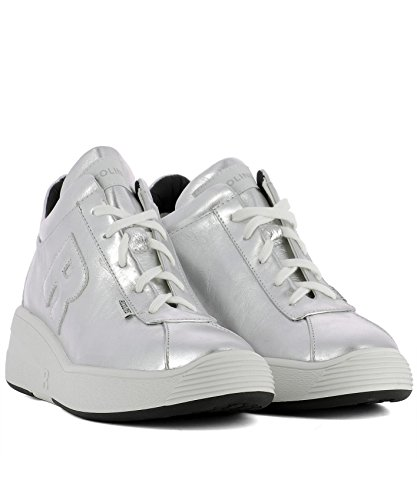 RUCO Sneakers 7200LAMARGENTO Women's LINE Leather Silver xvA6Uq