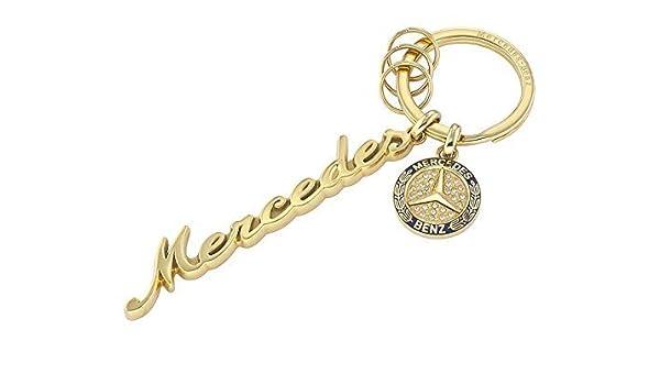 MERCEDES-BENZ, llavero, mujer, Classic oro amarillo/Azul ...