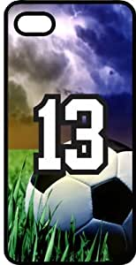 Soccer Sports Fan Player Number 13 Black Rubber Decorative iphone 5c Case WANGJING JINDA