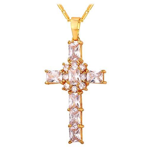 U7 Zirconia Crystal Pendant Necklace
