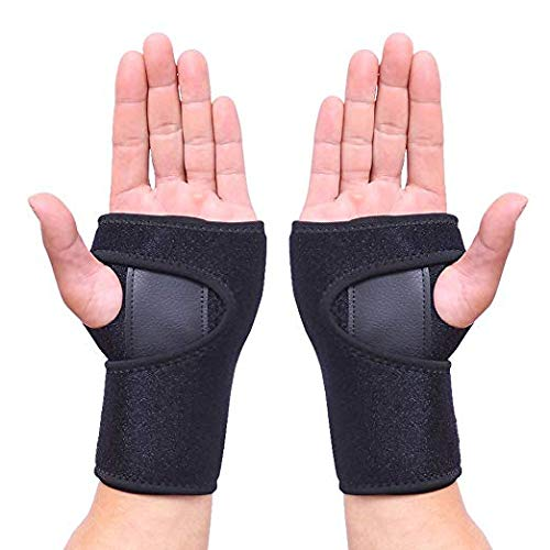 HEIRBLS Wrist Brace, Wrist Support Removable Wrist Hand Splint Support Training Protector, Cushioned to Help with Carpal Tunnel and Relieve and Treat Wrist Pain (Pair) ()