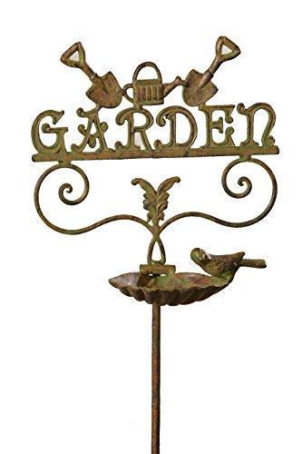 Tu Corazón Delight 111,8x 30,5x 30,5cm Hierro Fundido Estaca de jardín con Birdfeeder