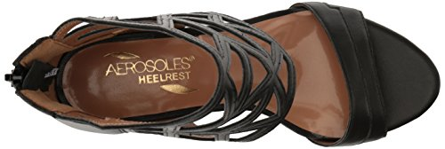 outlet limited edition sale choice Aerosoles Women's Salamander Dress Sandal Black Leather RmzkmP