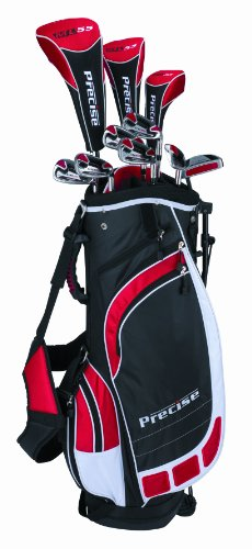 Precise Men's ML55 Complete Set (Left Hand, Black/Red)