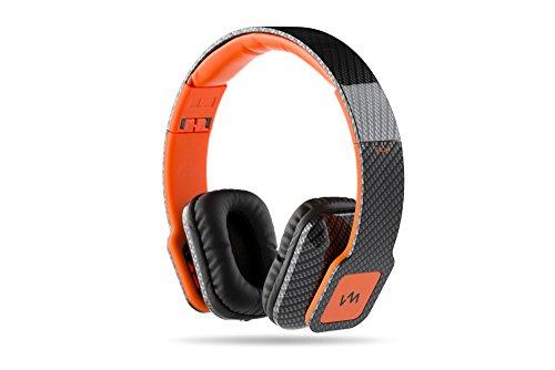 Headphones Mp3 Ipod Dj (VM Audio Elux On Ear DJ Stereo Bass Headphones for MP3/iPod Carbon Fiber/Orange)
