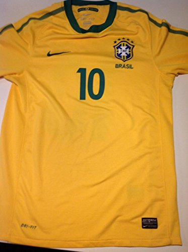RONALDINHO #10 NEW BRAZIL HOME YELLOW WORLD CUP 2014 SOCCER JERSEY FOOTBALL SHIRT (US - Small)
