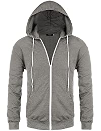 Mens Regular Fit Raglan Long Sleeve Lightweight Contrast Zip-up Hoodie
