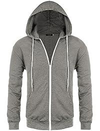Mens Regular Fit Raglan Long Sleeve Lightweight Contrast Zip-up Hoodie