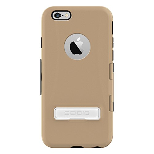 (Seidio CAPSA TouchView Case with Metal Kickstand for Apple iPhone 6 - Retail Packaging - Gold )