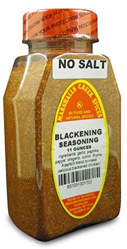 Marshalls Creek Spices Blackening Seasoning, No Salt, 11 Ounce - Seasoning Cajun Blackening