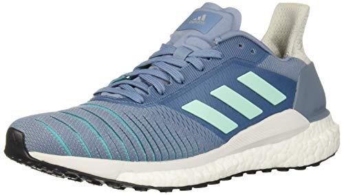 (adidas Women's Solar Glide Running Shoe, raw Grey/Clear Mint/hi-res Aqua, 8.5 M US)