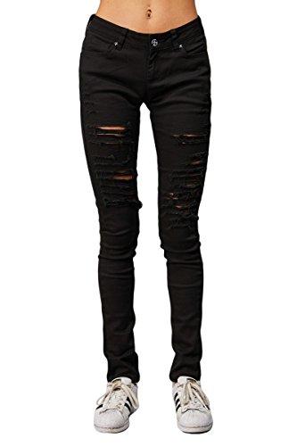 Skinny Criminal Black Donna Damage Jeans Eqxwar0RE