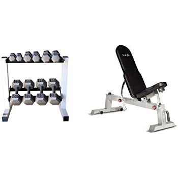 Amazon Com Cap Barbell 150 Lb Hex Dumbbell Set With