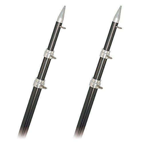 Rupp Marine A0-1800-CF Top Gun Outrigger Poles Fixed Length Carbon Fiber, 18 ft. (Marine Top Rupp)